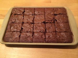 photo - cooked gluten free brownie